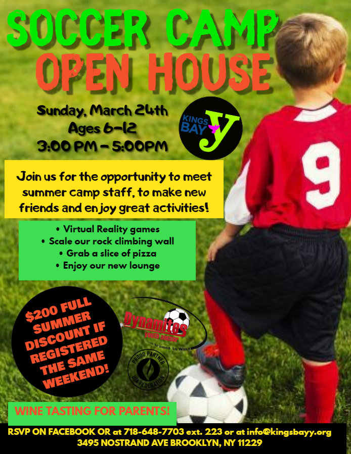 Summer Soccer Camp Open House